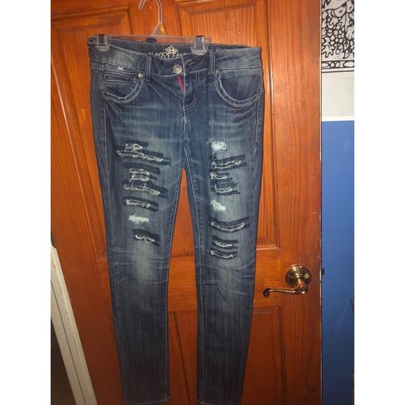 db9edd0d Almost Famous Jeans   Cute Ripped   Poshmark